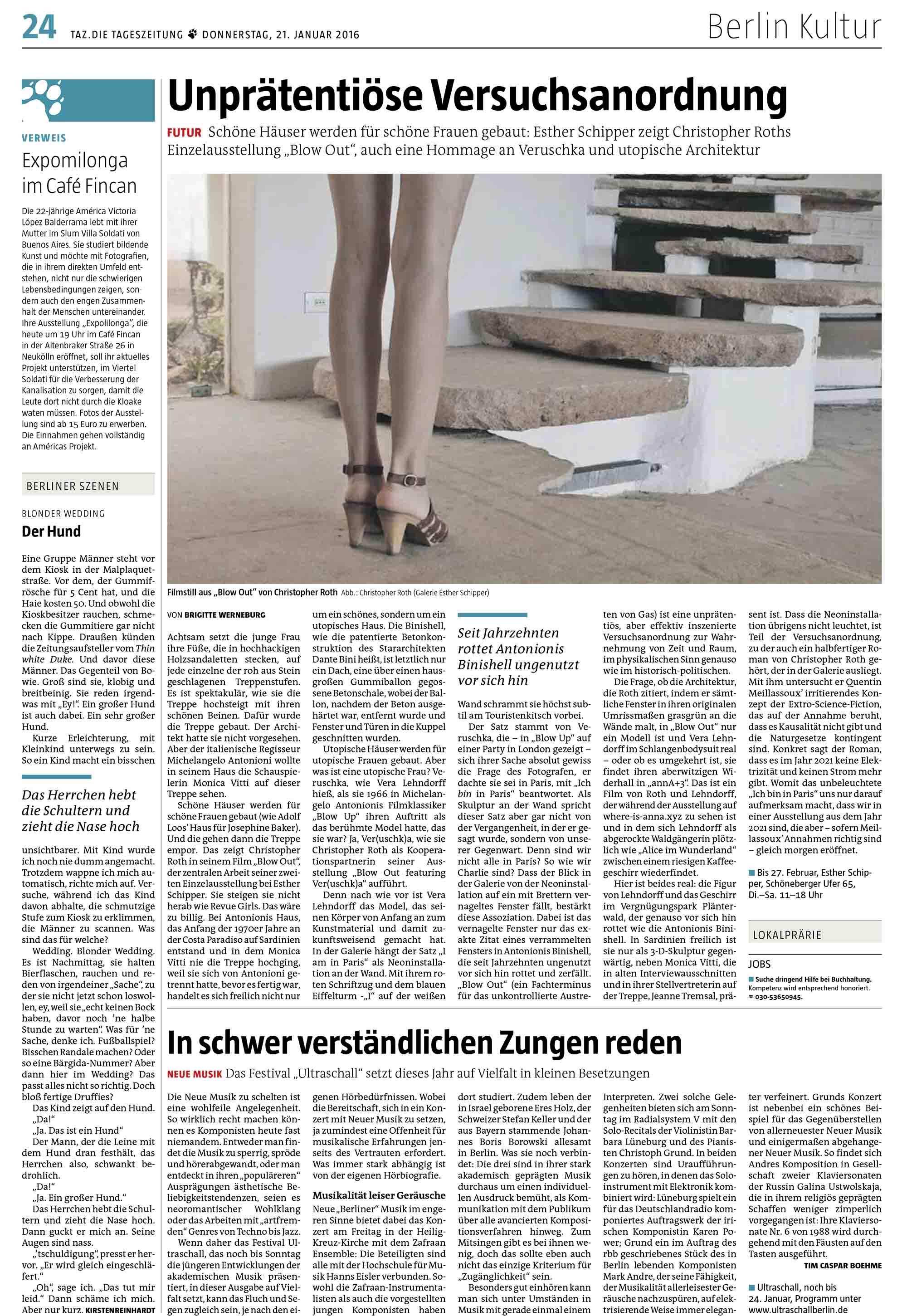 taz. die tageszeitung vom 21.01.2016